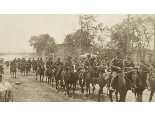 5th Canadian Mounted Rifles Military Day Parade in Sherbrooke, June 4, 1915