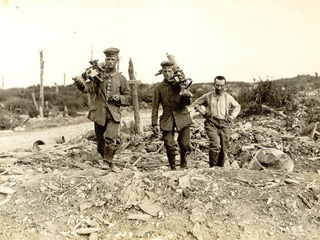 German Machine Gunners Giving Themselves up to Canadians, June 1917