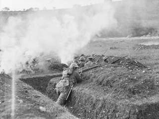 Canadian Troops Training for Trench Warfare at Shorncliffe, England, Sept 1917.
