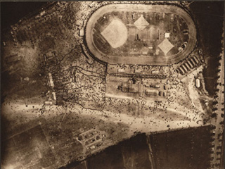 Aerial View of Championship Sports Meet in France, [ca. 1918]