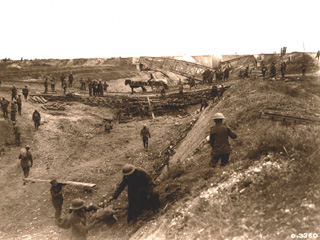 The Canal du Nord Showing the Construction and Cutting Across,  [ca. 1918]