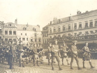 42nd Highlanders First in Mons, France