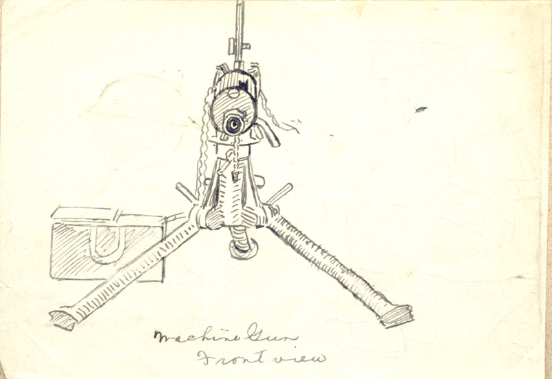 Machine-gun : Front View