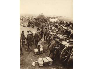 Canadians Loading up Ammunition at the Front, [ca. 1918]