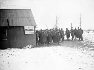 Though It Is Cold, the Canadians Look Forward to Having a Bath, December, 1917