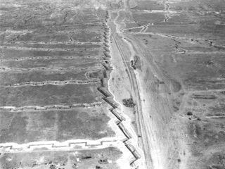 A Sector of the Western Front from the Air