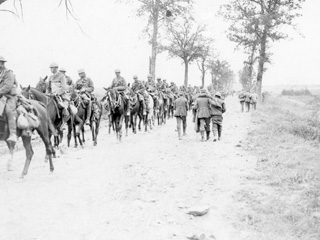Canadian Light Horse Advancing during the Last Days of the War.