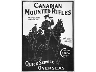 Canadian Mounted Rifles, 1914-1918