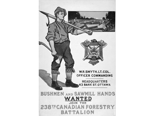 Bushmen and Sawmill Hands Wanted � Join the 238th Canadian Forestry Battalion, 1914-1918