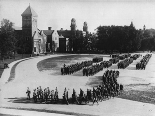 Soldiers in Formation, University of Toronto, WW1, [1914].