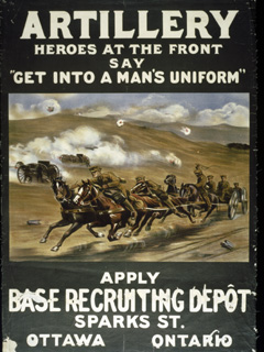 Artillery Heroes at the Front Say �Get into a Man�s Uniform�, 1914-1918