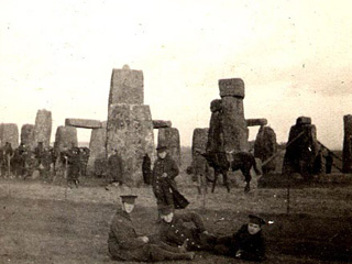 4th Battalion at Stonehenge near Salisbury Plain Training Camp, 1914.
