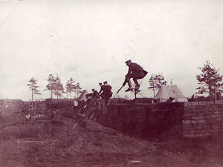 Training to Jump with Bayonets, Witley 1918