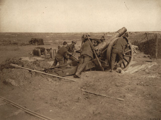 Getting a Howitzer into Position on the Canadian Front, [ca. 1918]
