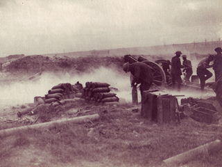 Artillery Position with Rounds Ready to Go