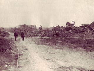 Ruined French Village, 1914-1918