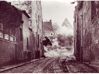 Heavy Shells Exploding in Cambrai