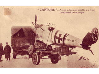 Captured German Airplane on the British Western Front