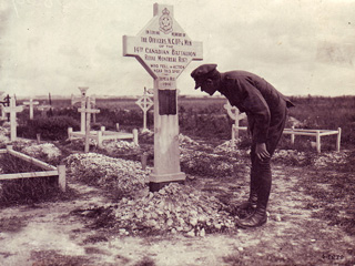 RMR Cross, Tara Hill Cemetery on the Somme, 1916