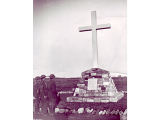 Troops Looking at Vimy  Memorial, 1917