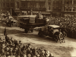 Military Parade Float of the �Flying Boat� during World War I, [ca. 1918]
