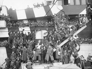 Canadian Troops Returning from Europe Aboard H.M.T. Olympic, Halifax, NS, ca. 1919