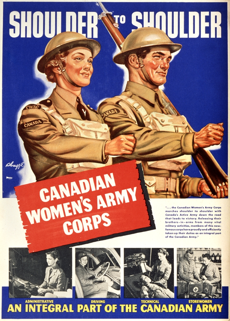 Shoulder to shoulder. Canadian Women's Army Corps