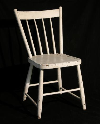 One of the chairs used for the filming of A Chairy Tale.