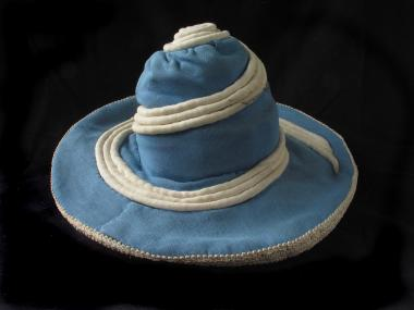 Hat worn by Grant Munro in the film Canon, made by Norman McLaren and Grant Munro in 1964.