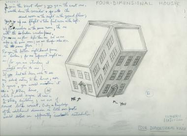 Drawing by Norman McLaren of a four-dimensional house.