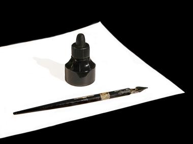 Pen used by Norman McLaren to draw directly on the film stock or sound track.