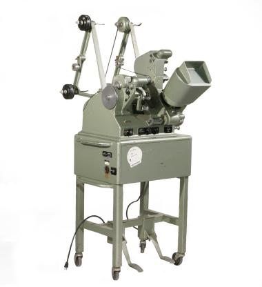 Moviola-brand editing machine used by Norman McLaren, in particular to coordinate sound and images.
