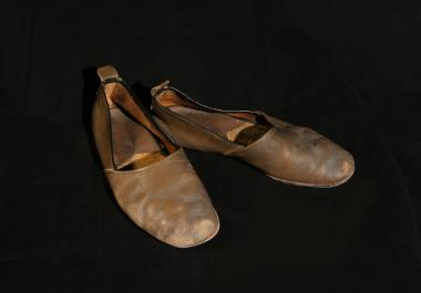 Slippers worn by Norman McLaren during the time he worked at the National Film Board of Canada.