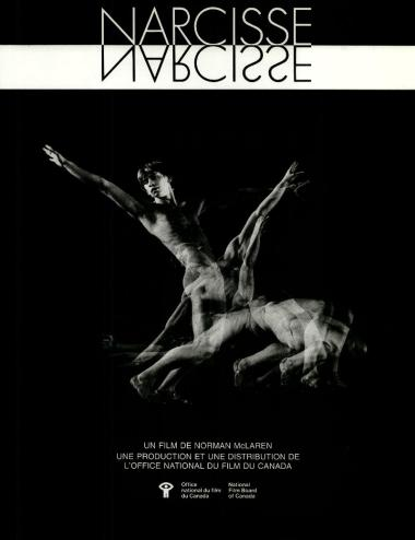 One-sheet for the film Narcisse/Narcissus, which Norman McLaren made in 1983.