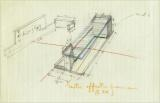 Blueprints for the table designed and built by Norman McLaren for inscribing synthetic music on film stock using the sound card method.